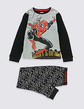 Pure Cotton Spider-Man™ Long Sleeve Pyjamas (6-16 Years)