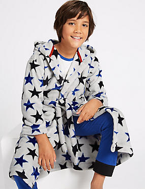 Star Print Dressing Gown (1-16 Years)