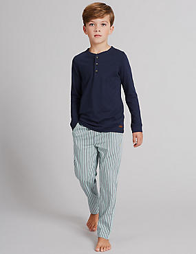 Striped Long Sleeve Pyjamas (1-16 Years)