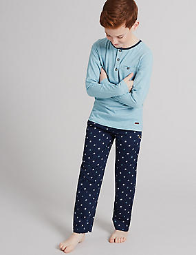 Pure Cotton Long Sleeve Pyjamas (1-16 Years)