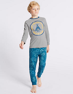 Printed Long Sleeve Pyjamas (3-16 Years)