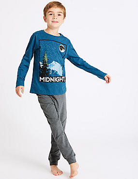 Cotton Rich Midnight Print Pyjamas (3-16 Years)