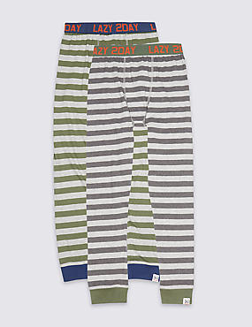 2 Pack Cotton Rich Pyjama Bottoms (7-16 Years)