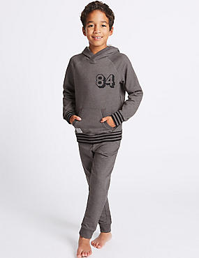 Cotton Rich Long Sleeve Pyjamas (7-16 Years)