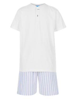 Pure Cotton Striped Short Pyjamas Clothing