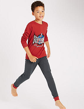 Cotton Rich Superman™ Pyjamas (6-16 Years)