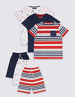 3 Pack Pure Cotton Pyjamas (3-16 Years)