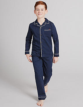 Pure Cotton Spotted Pyjamas (1-16 Years)