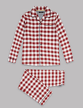 Pure Cotton Gingham Pyjamas (1-16 Years)