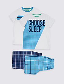 2 Pack Pure Cotton Pyjamas (3-16 Years)