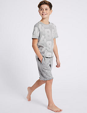 Lounge Printed Short Pyjamas (3-16 Years)