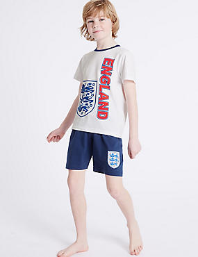 Pure Cotton England Short Pyjamas (3-16 Years)
