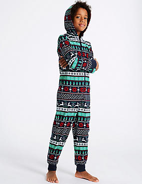 Pure Cotton Fairisle Onesie (1-16 Years)