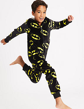 Batman™ Hooded Onesie (4-16 Years), BLACK MIX, catlanding