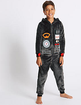 Robot Hooded Onesie (1-16 Years)