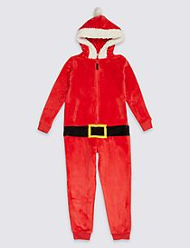Santa Hooded Onesie (3-16 Years)