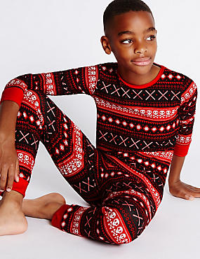 Fairisle All over Print Pyjamas (1-14 Years)