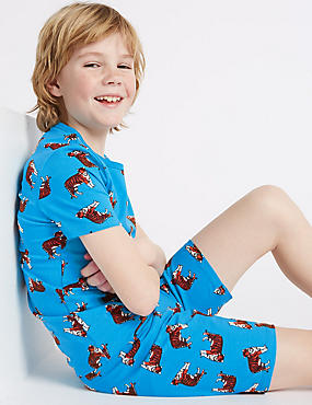 Tiger Print Short Pyjamas (1-16 Years)