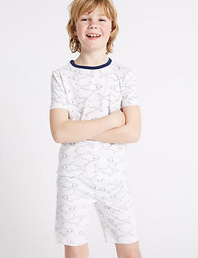 Shark Print Short Pyjamas (1-16 Years)
