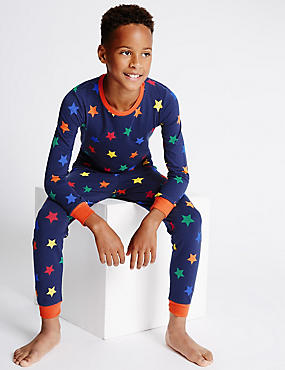 Skinny Fit Star Print Pyjamas (1-16 Years)