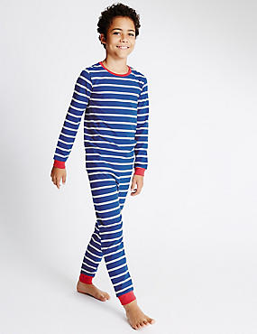 Cotton Rich Skinny Fit Striped Pyjamas (1-16 Years)