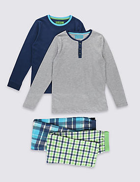 2 Pack Checked Pyjamas (1-16 Years)