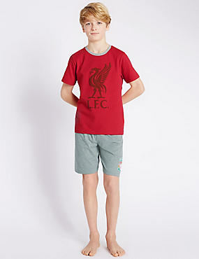 Liverpool Football Club Stay Soft Short Pyjamas (3-16 Years)