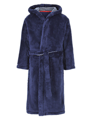 Stripe Lined Dressing Gown with StayNEW™ (5-14 Years) Clothing