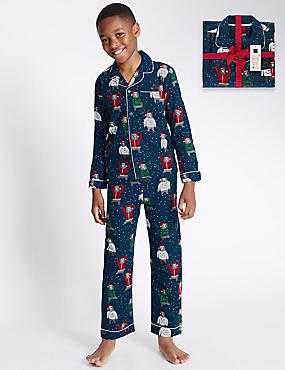 Pure Cotton Bailed Bear Pyjamas (1-16 Years)
