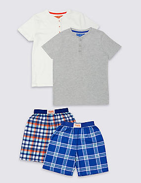 2 Pack Short Sleeve Pyjamas (3-16 Years)