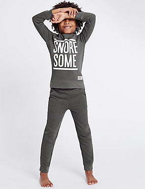Slogan Print Pyjamas (3-16 Years)