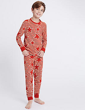 Cotton Printed Pyjamas with Stretch (1-16 Years)