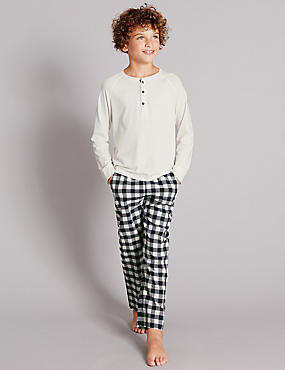 Long Sleeve Checked Pyjamas (1-16 Years)