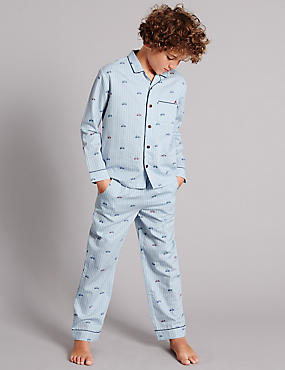 Pure Cotton Bike Woven Pyjamas (1-16 Years)