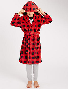 Checked Dressing Gown (2-16 Years)