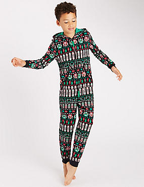 Robot Fairisle Onesie (6-16 Years)