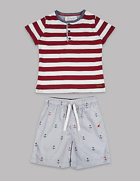 Pure Cotton Striped Pyjamas (1-16 Years)