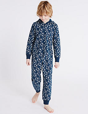 Pure Cotton Football Print Onesie (1-16 Yrs)