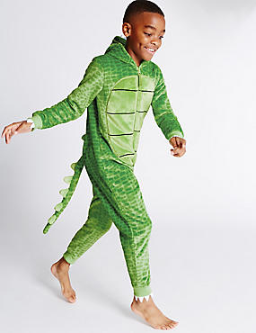 Long Sleeve Crocodile Onesie (1-16 Years)