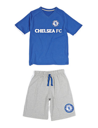 Chelsea Football Club Short Pyjamas (3-16 Years) Clothing