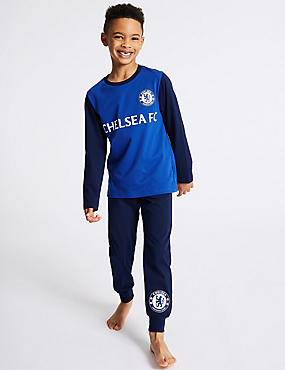 Pure Cotton Chelsea FC™ Pyjamas (3-16 Years)