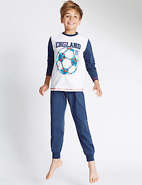 Pure Cotton England Pyjamas (3-16Years)