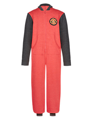 Cotton Rich Manchester United Football Club Sweat Onesie Clothing