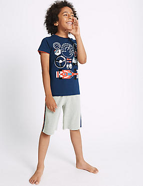 Round Neck Short Pyjamas (3-16 Years)