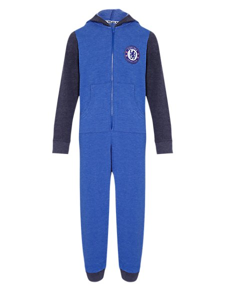 Cotton Rich Chelsea F.C Sweat Hooded Onesie