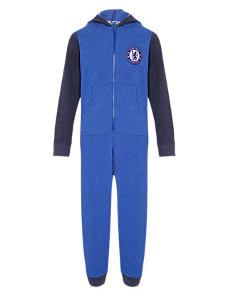 Cotton Rich Chelsea F.C Sweat Hooded Onesie Clothing