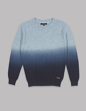 Pure Cotton Dip Dye Jumper (3-14 Years)