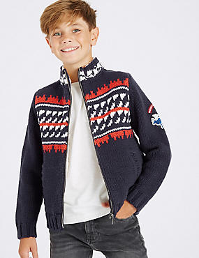 Fairisle Zipped Sweatshirts (3-14 Years)