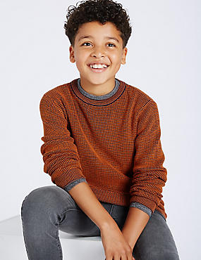 Cotton Blend Knitted Jumper (3-14 Years)