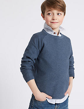Pure Cotton Knitted Jumper (3-16 Years)